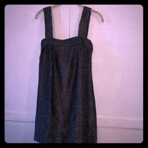 VINTAGE! Sheer, loose metallic jumper dress